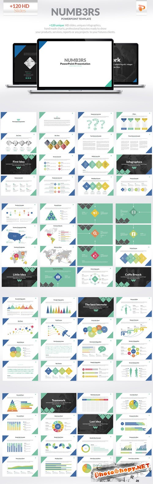 CreativeMarket - Numbers | Powerpoint Presentation