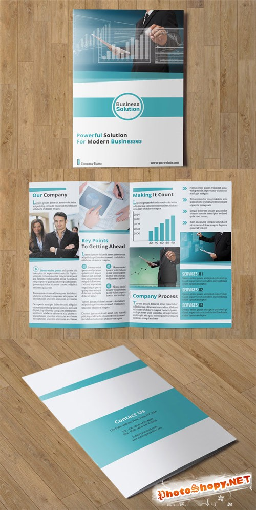 CreativeMarket - Corporate Bifold Brochure-V04