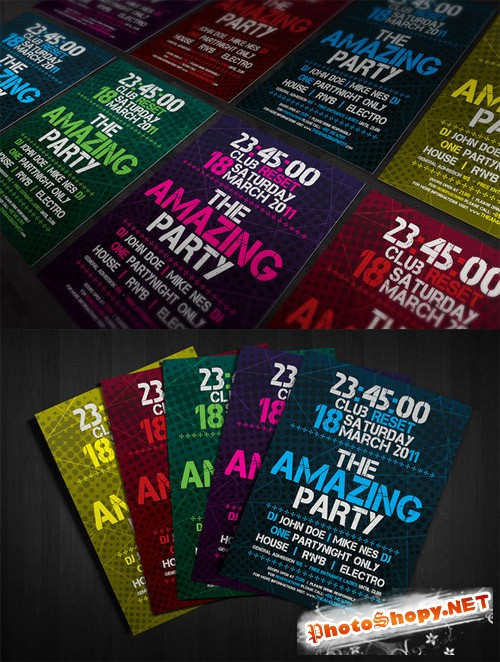 CreativeMarket - Amazing Party Flyer