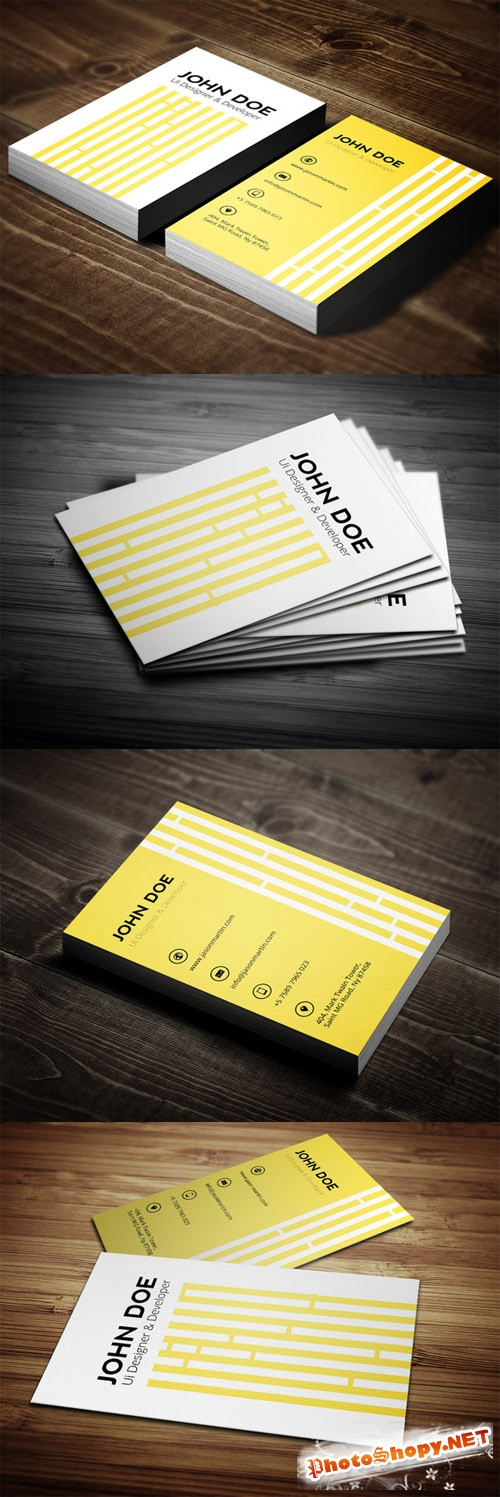 CreativeMarket - Creative Yellow Business Card