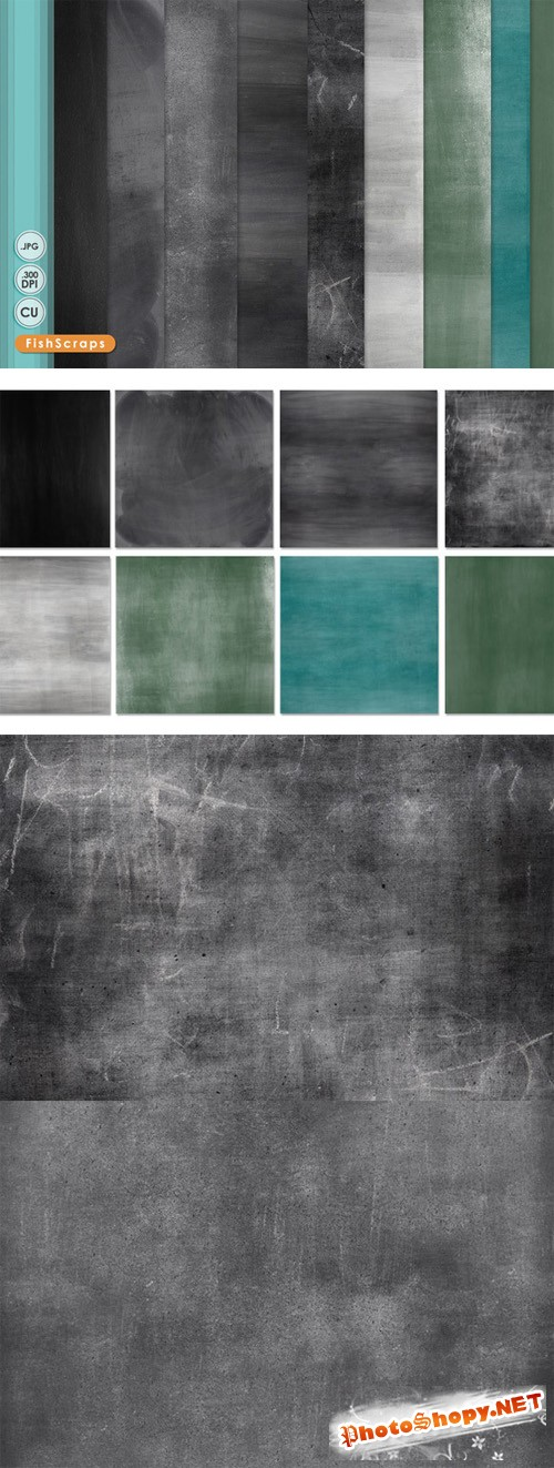 Chalkboard Digital Papers - CreativeMarket