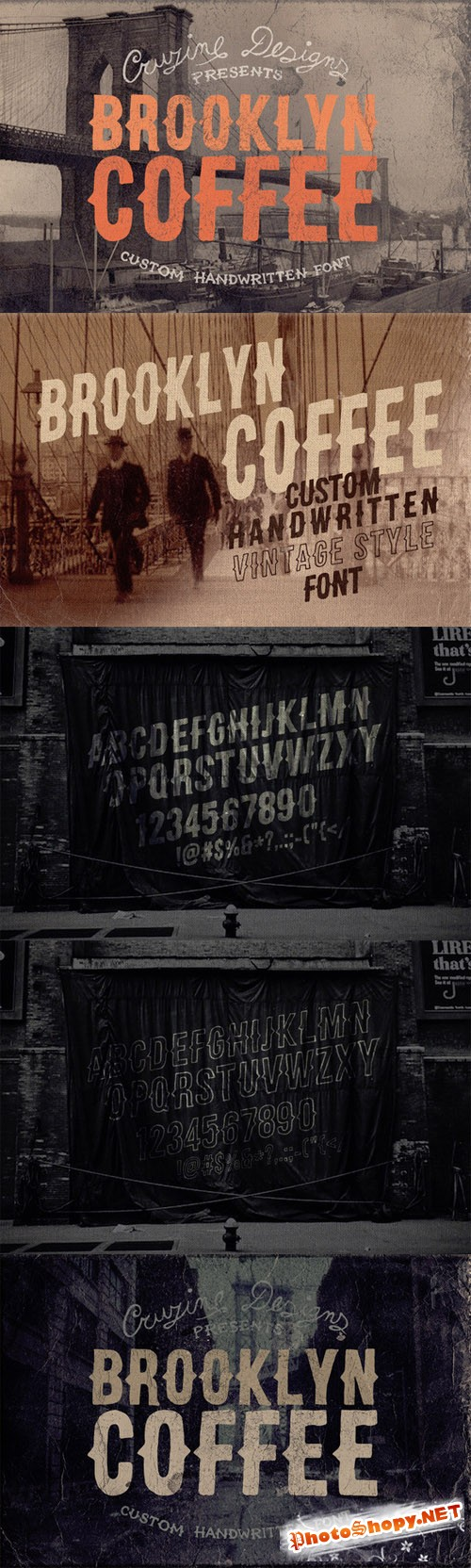 Creativemarket - Brooklyn Coffee Custom Font 63775