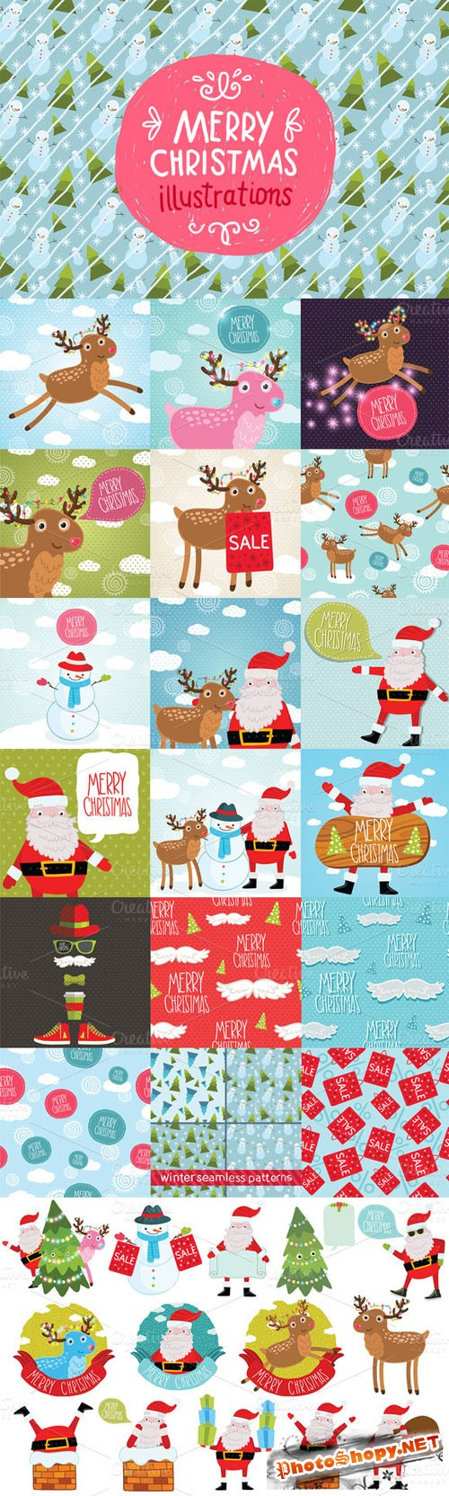 Creativemarket - Merry Christmas illustrations 16863