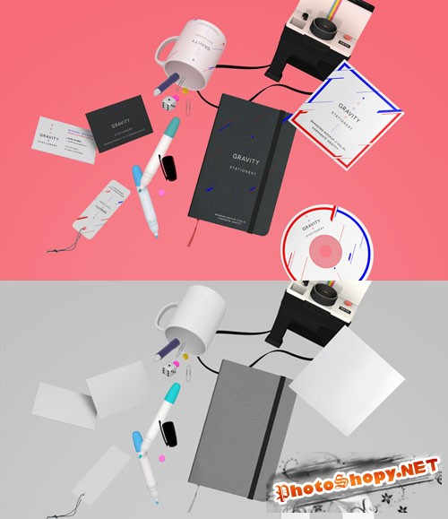 Gravity Stationery Branding Vol 1 - PSD Mock-Up