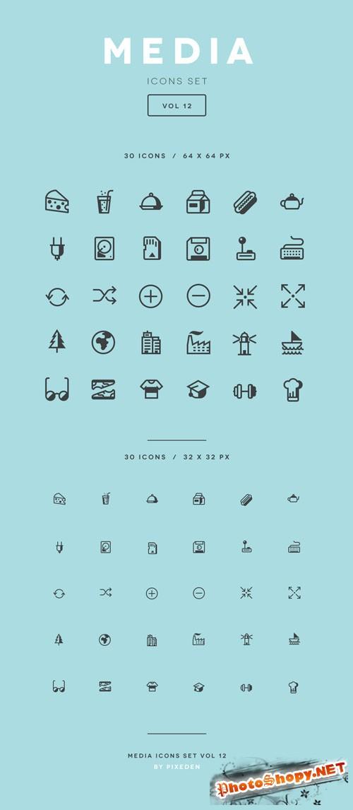 Media Icon Set Vol12