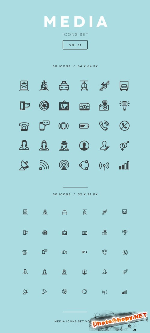 Media Icon Set Vol11