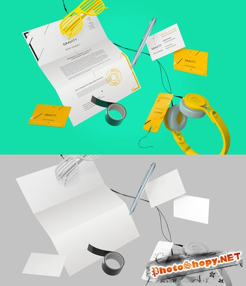 Gravity Stationery Branding Vol 2 - PSD Mock-Up