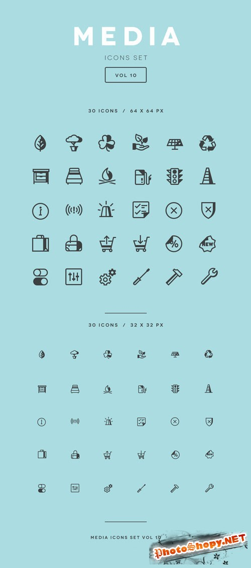 Media Icon Set Vol10