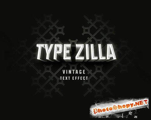 Type-Zilla Vintage Retro Movie Text PSD Effect