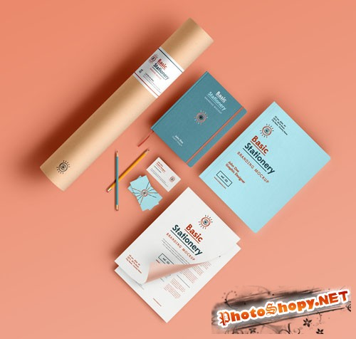 Basic Stationery Branding Vol 3 - PSD Mockup