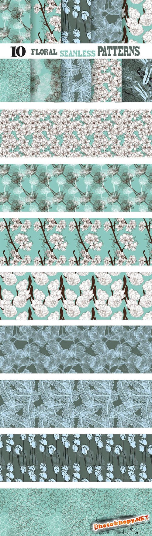 Floral Seamless Patterns - Creativemarket 49424