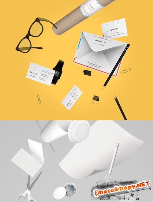 Gravity Stationery Branding Vol 3 - PSD Mock-Up