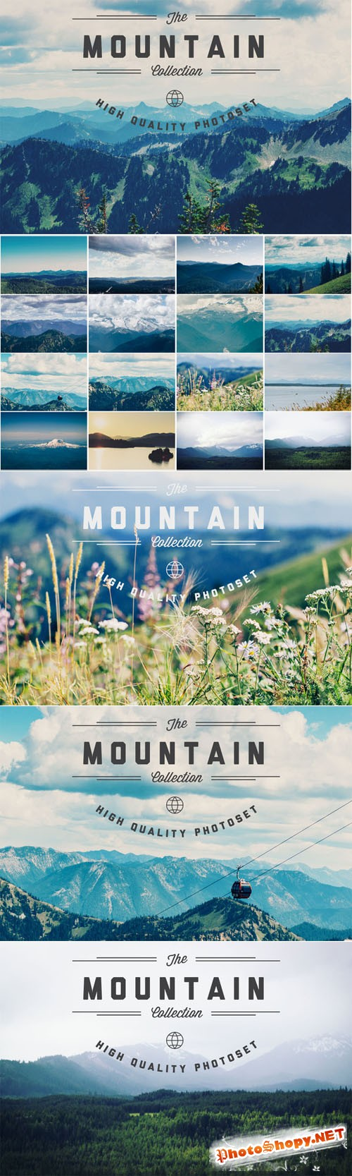 Mountains - Hi Res Photoset - Creativemarket 75386