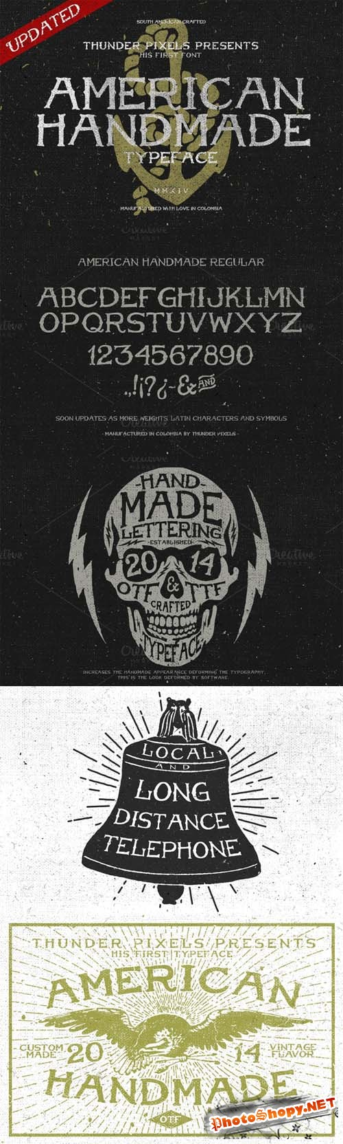 American Handmade Typeface Font