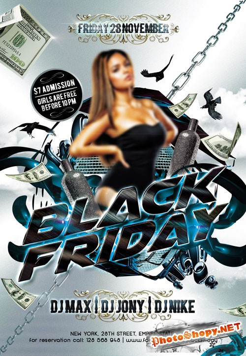 Flyer PSD Template - Black Friday 2