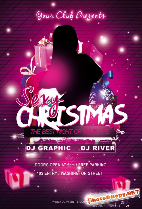 Flyer Template - Sexy Christmas