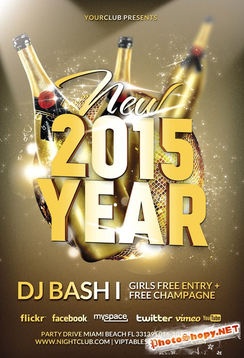 Flyer Template - New Year 2015