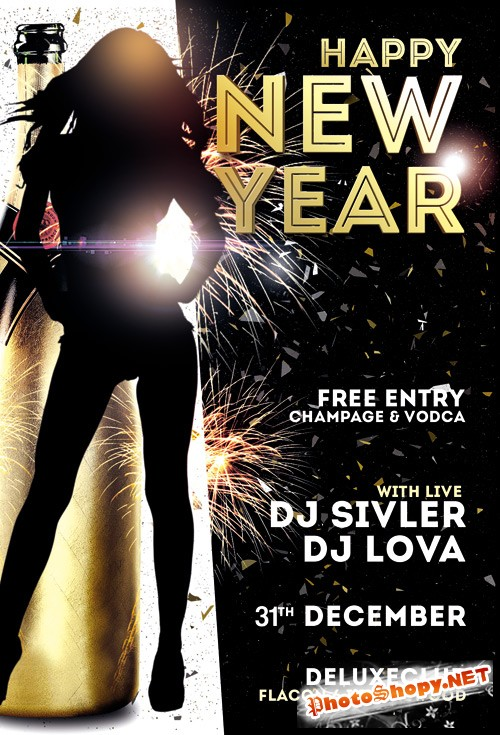 Flyer Template - Happy New Year