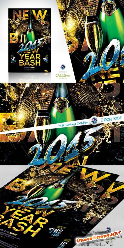 2015 New Year Bash Flyer Template v2