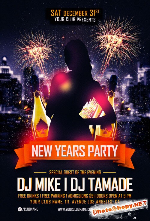 Flyer Template - New Years Party