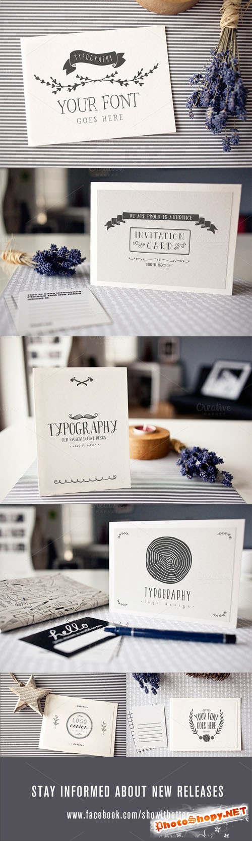 Typography Logo Invitation
