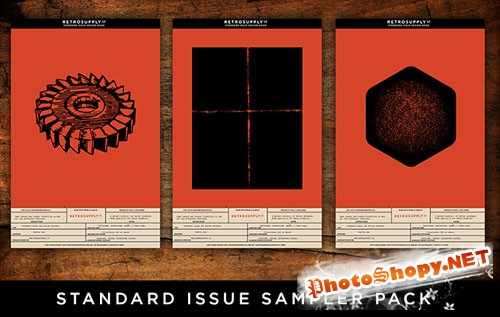 10 Standard Issue Vector Textures Pack