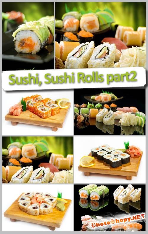 Высококачественный растровый клипарт Суши ролы и Суши часть 2 | Sushi Rolls part 2