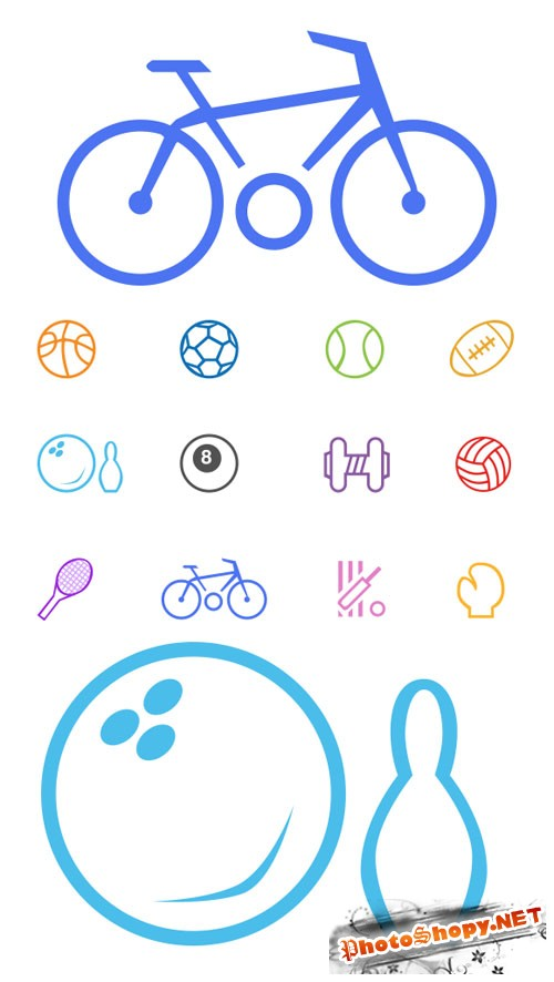 Sports & Game Line Icons - Creativemarket 87685