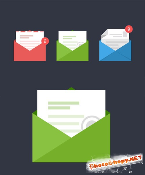 Stylish Email Icons - Creativemarket 87686