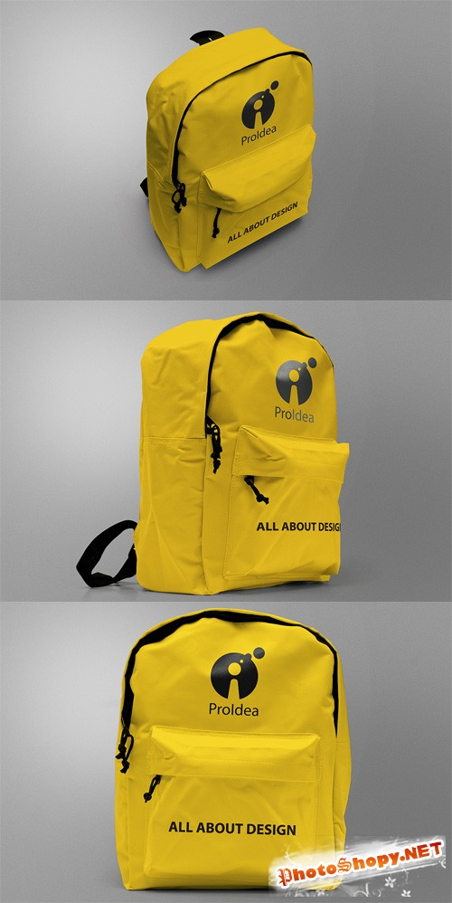 3 BackPack Mock-ups Templates PSD