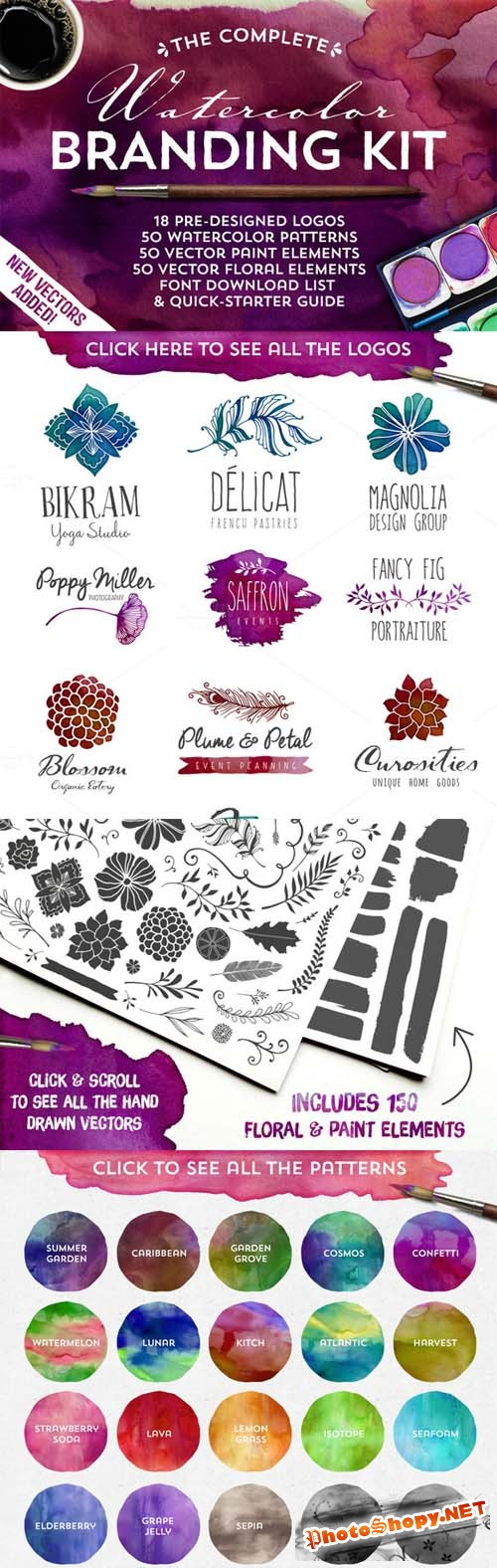 The Watercolor Branding Pack