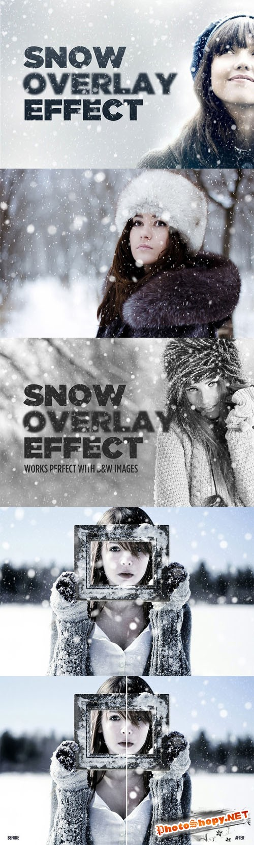 Snowy Day Overlay Effect - Creativemarket 132058