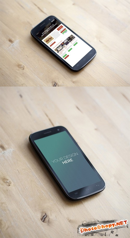 2 Android Phone Mock up Templates PSD