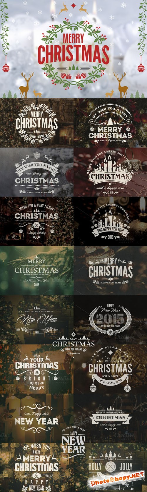Christmas / New Year Badges & Labels - Creativemarket 103859
