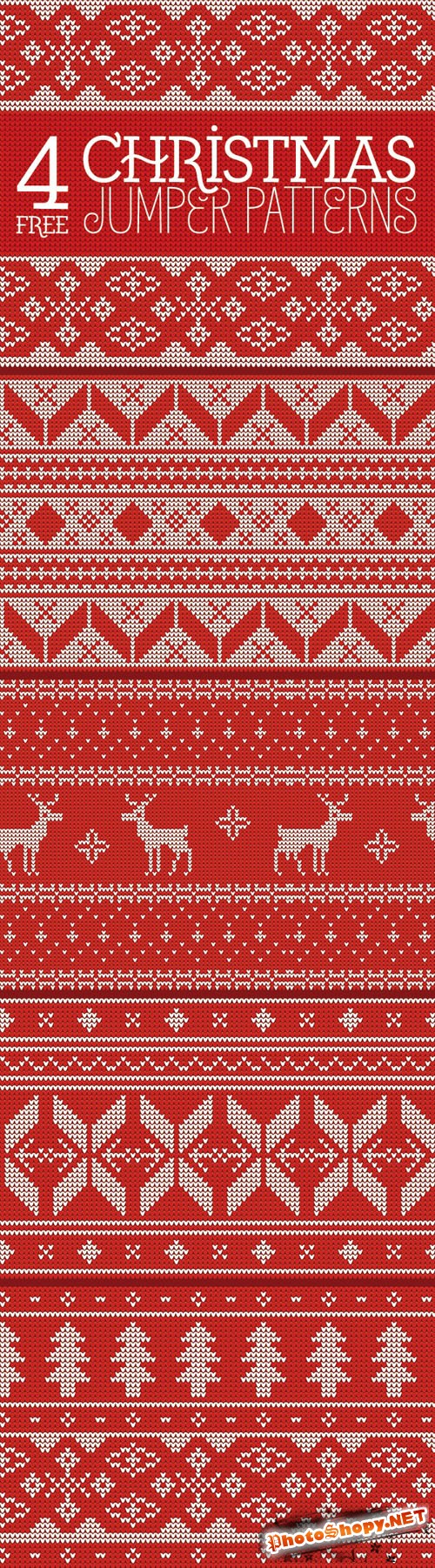 4 Seamless Knitted Christmas Jumper Patterns