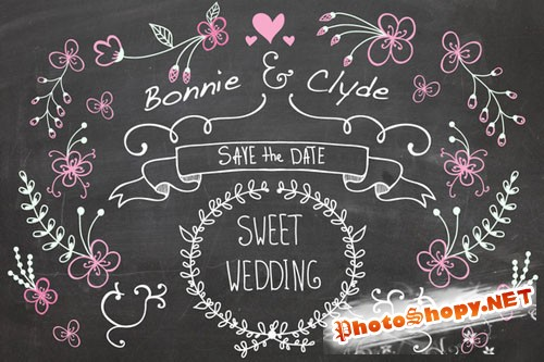 Wedding set - Creativemarket 79177