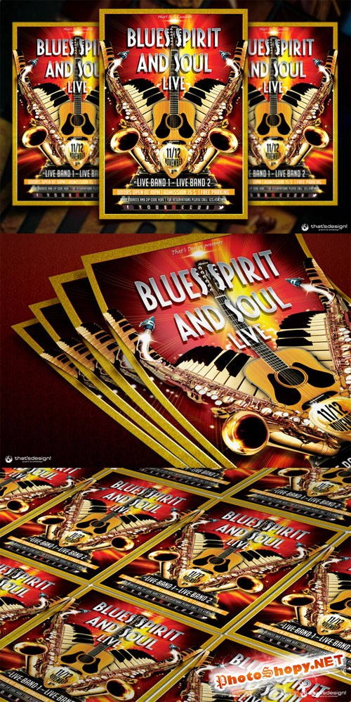 Blues and Soul Live Flyer Template - CM 88990
