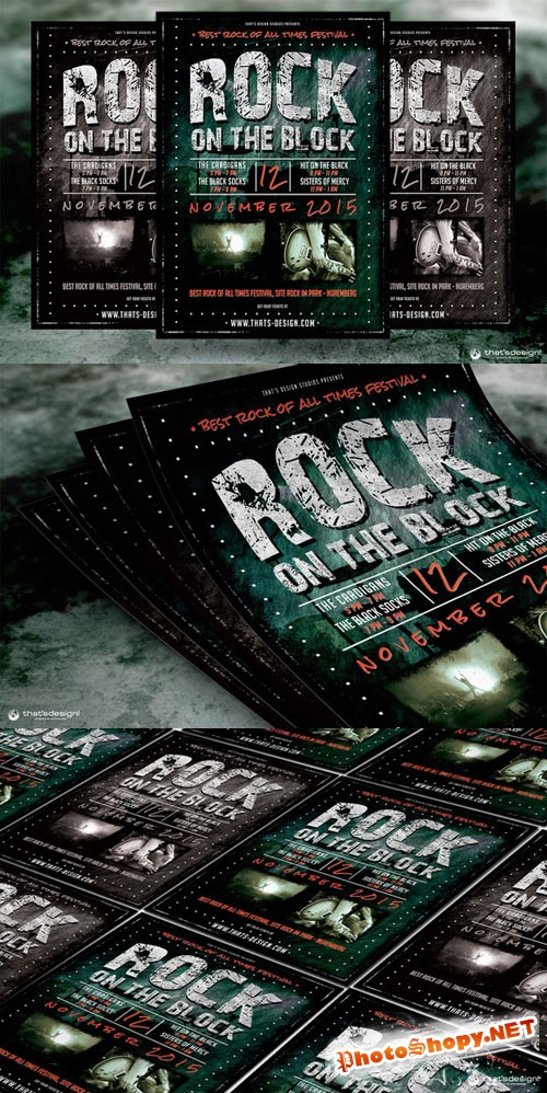 Rock Festival Flyer Template - CM 91412