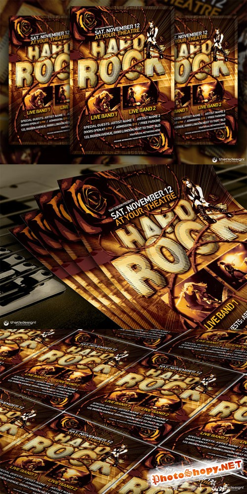 Hard Rock Flyer Template - CM 90048