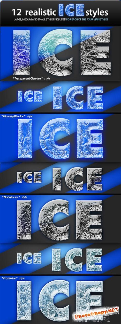 Realistic Ice Styles - CreativeMarket  4310