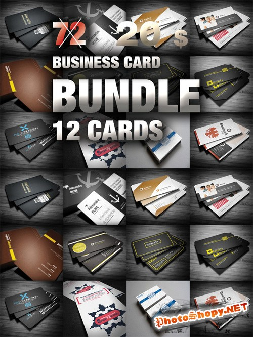 Mega Bundle Business Card Templates 12 in 1