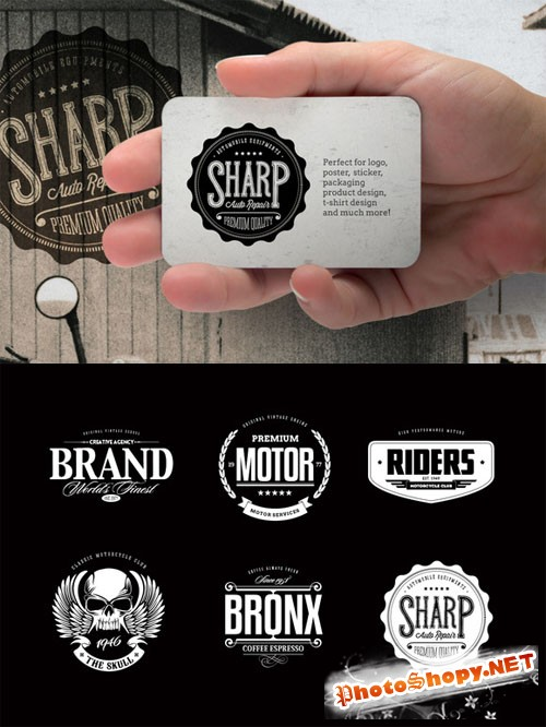 Badges & Logos Vol.03 - Creativemarket 12944