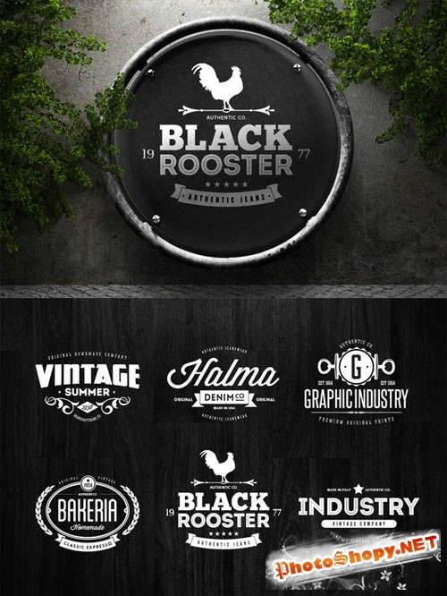 Badges & Logos Vol.06 - Creativemarket 48063