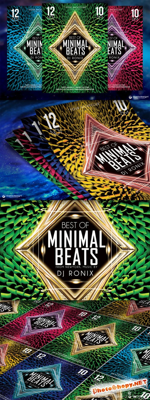 Minimal Beats Flyer Template - Creativemarket 89839