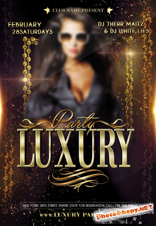 Flyer PSD Template - Luxury Party
