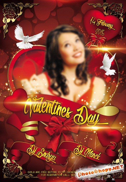 Flyer PSD Template - Valentines Day 5