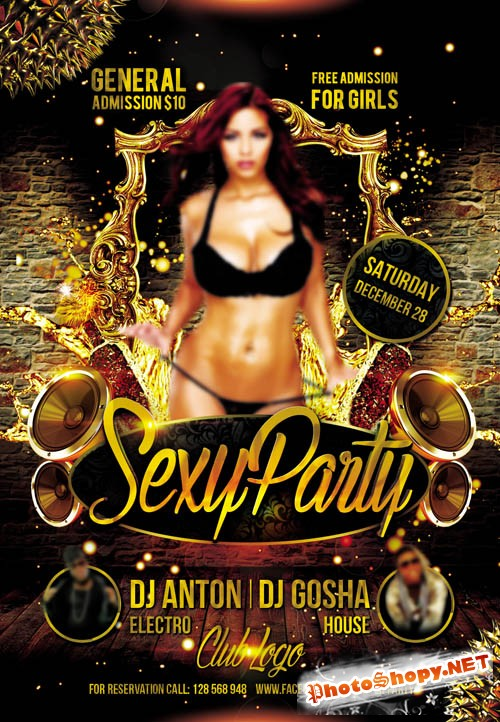 Flyer PSD Template - Sexy Party