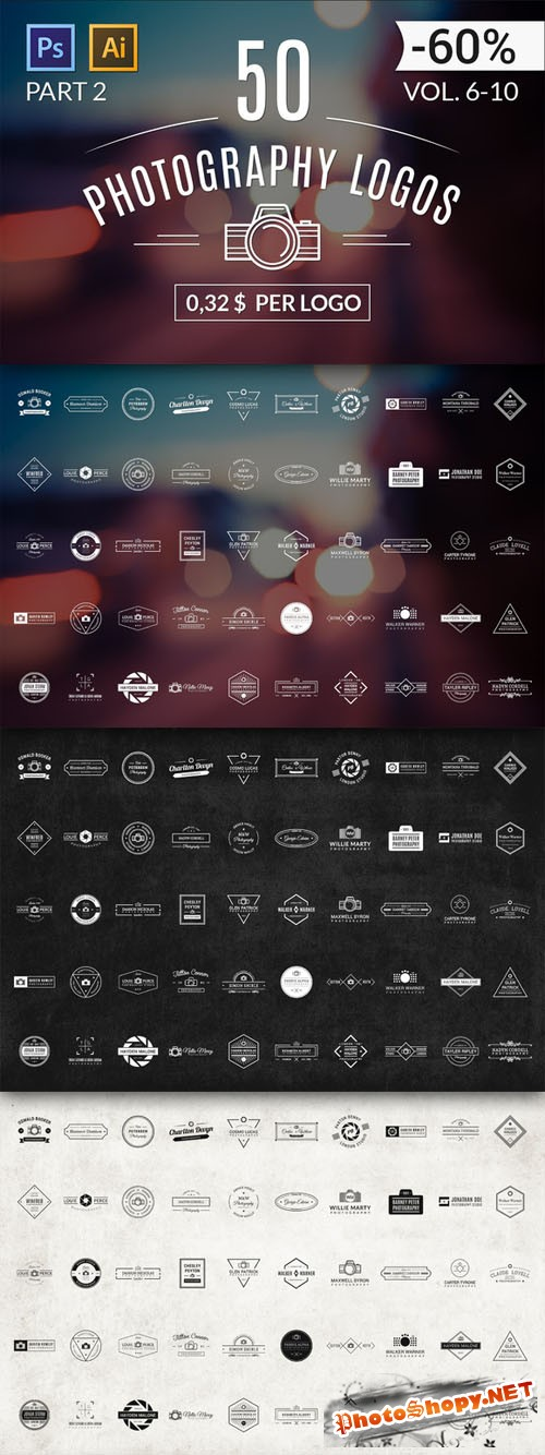 50 Photography Logos (Vol. 6-10) - Creativemarket 71894