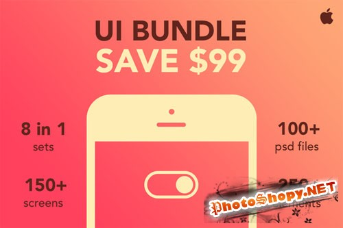 iOS UI Bundle 8 in 1 - CM 87609
