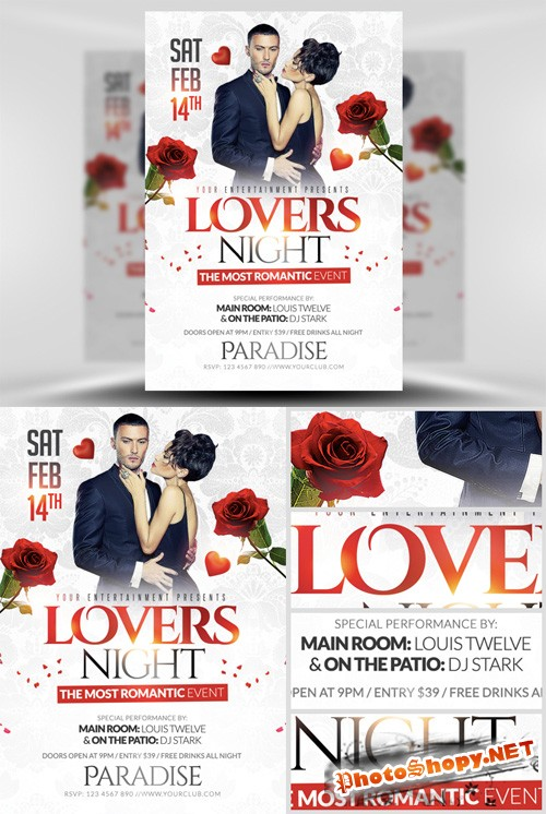 Lovers Night Flyer Template